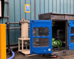 Water recycling scheme chemiguard and control panel